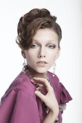 Beautiful girl - fashion model  Health, beauty, make-up
