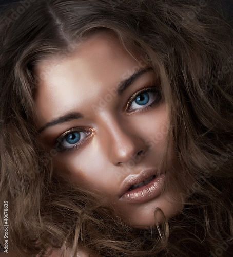 Beauty and health, cosmetics and make-up. Fashion woman model