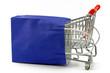 einkaufswagen mit einkaufstasche