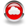 red cloud computing icon