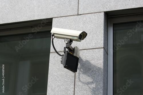 Überwachungskamera mit Infrarotscheinwerfer