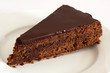 Beautiful tasty chocolate sacher cake