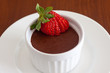 Chocolate mousse with strawberry