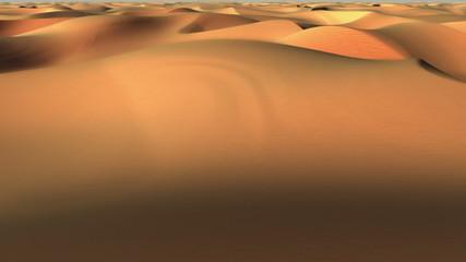 Flight over desert