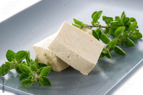 tofu cheese on dish