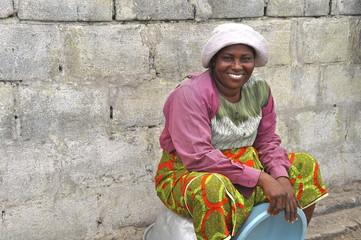 Sympathische afrikanische Frau