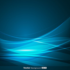 Abstract blue wave background design, vector illustration