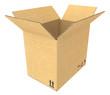 Open Cardboard Box. Cardboard texture. Isolated.