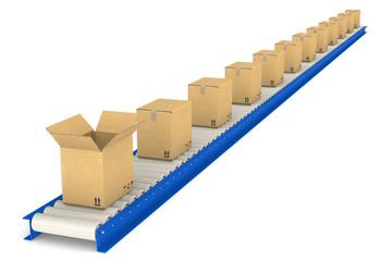 Conveyor Belt.  Cardboard texture.
