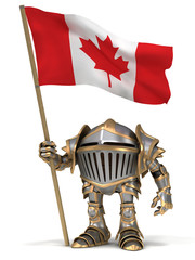 Knight with Canada flag