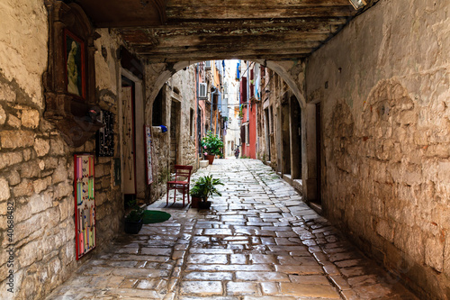 Narrow Archway in the City of Rovinj, Croatia 40688482