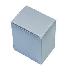 White paper box top view.