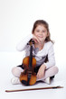 Young girl with a violin