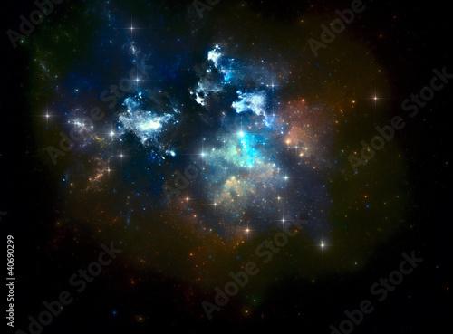 Colorful space star nebula