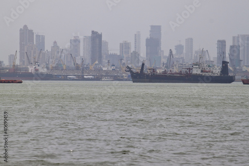 Skyline of megalopolis Mumbai, India