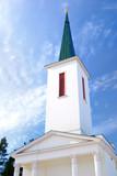 old Lutheran church in Ikshkile, Latvia poster