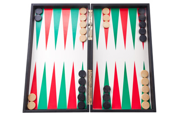Tablero del Backgammon
