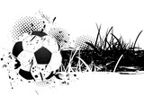 Grunge background with soccer ball