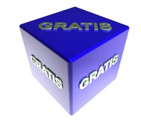 3D Blauwuerfel - GRATIS