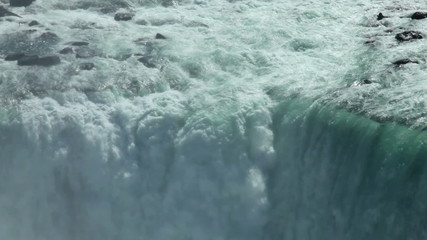 Niagara Waterfall closeup tilt down