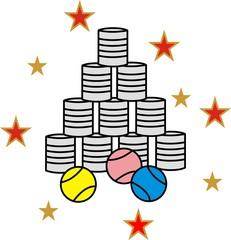 Dosenwerfen, Blechdosen, Wurfbude,Trefferquote, Spiel, Jahrmarkt