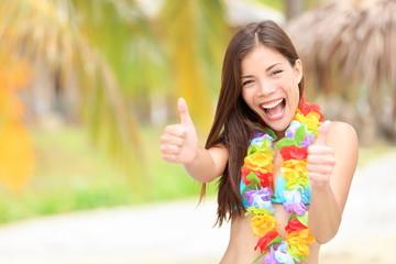 Vacation summer fun woman