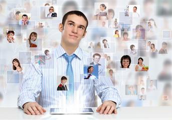 Businessman making presentation