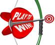 Play to Win Determination Resolve Bow Arrow Target