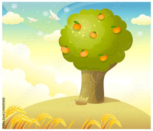 卡通橘子树 第6张 美拍图