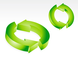 abstract green recyle icon