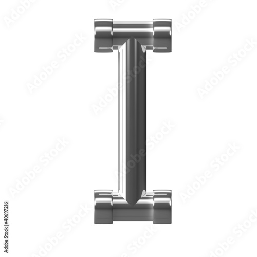 3d Silver Pipe Letter I