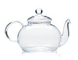 Empty glass teapot