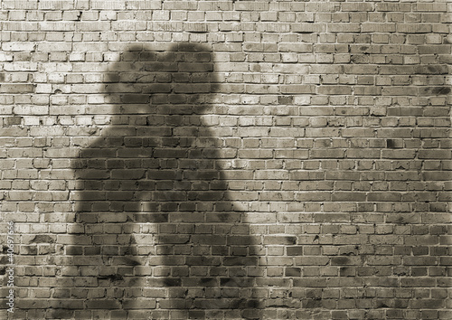 shadow of the man and the woman