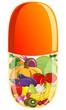 Овощи и фрукты в капсуле