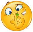 Picking nose emoticon