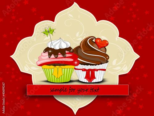 Muffin, Cupcakes Einladung