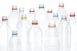 Plastic beverage bottles for recycling.