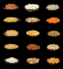 Сollection of cereals and grains