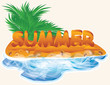 Summer beach vector design