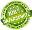 """Button Banner """"100 % Datenschutz"""" grün"""