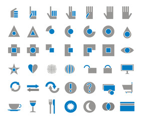 42 icons set einkaufen,essen,trinken