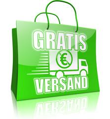 Serie Einkaufstasche GRATIS VERSAND, grün