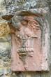 Wall plaque. Gropparello Castle. Emilia-Romagna. Italy.