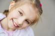 beautiful liitle girl close-up