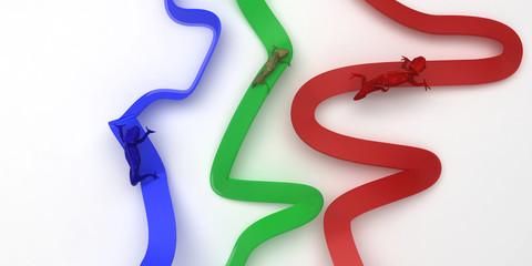 camaleonte rgb colori  render 3d stampa grafica