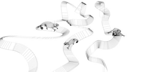 camaleonte render 3d grafica