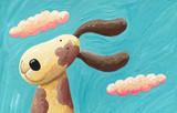 Fototapety Cute dog in the wind
