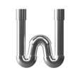 3d Silver Pipe Letter W