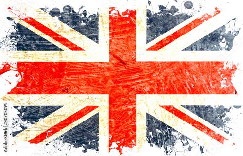 drapeau anglais decoupe - 40705095