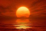 Fototapety red sunset